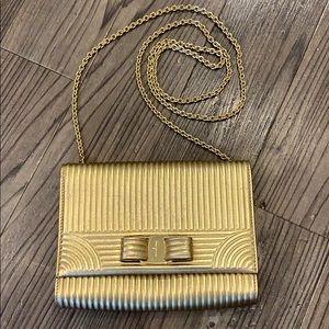 💖 FERRAGAMO Gold Miss Vara Bag